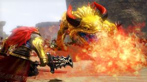 WiiU_HyruleWarriors_42_Ganondorf_vs_King_Dodongo_01_0